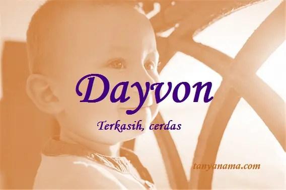arti nama Dayvon