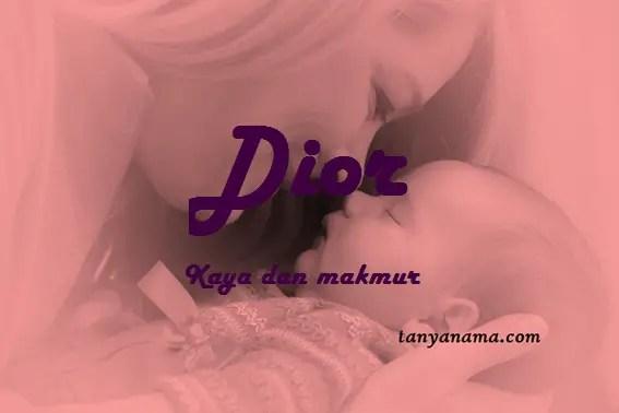 arti nama Dior