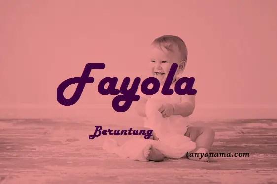 arti nama Fayola