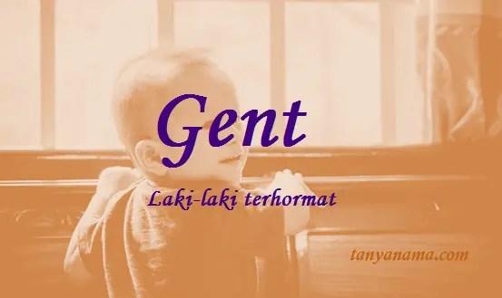 arti nama Gent