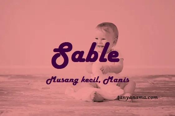 arti nama Sable