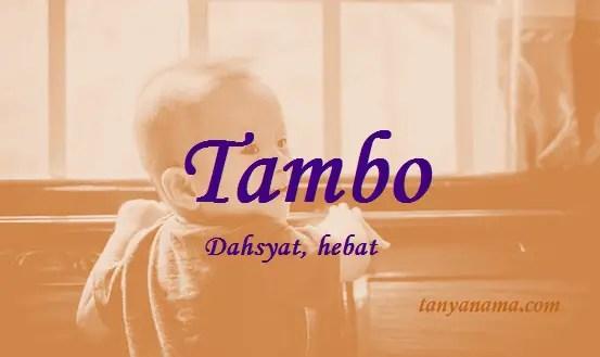 arti nama Tambo