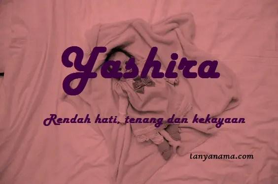 arti nama Yashira