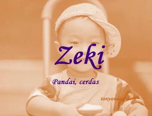 arti nama Zeki
