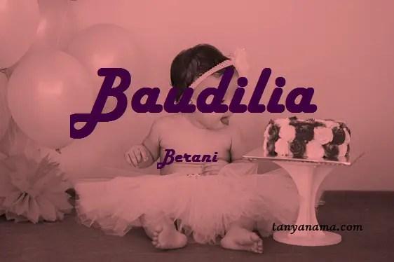 arti nama Baudilia