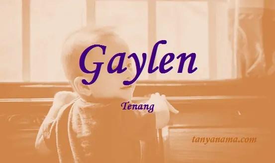 arti nama Gaylen