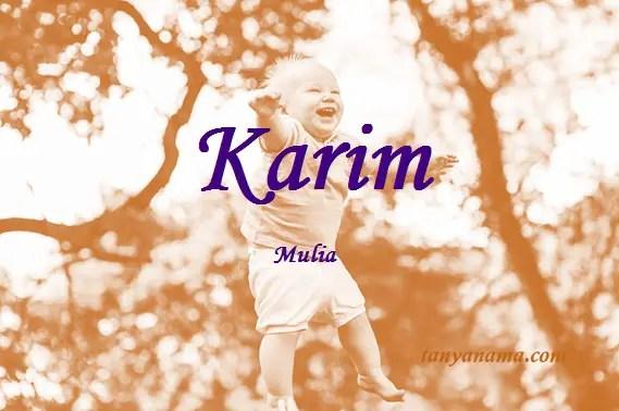arti nama Karim