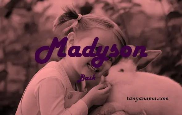arti nama Madyson