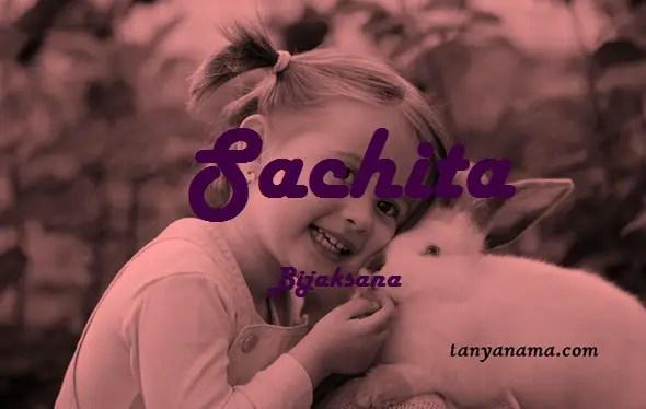 arti nama Sachita