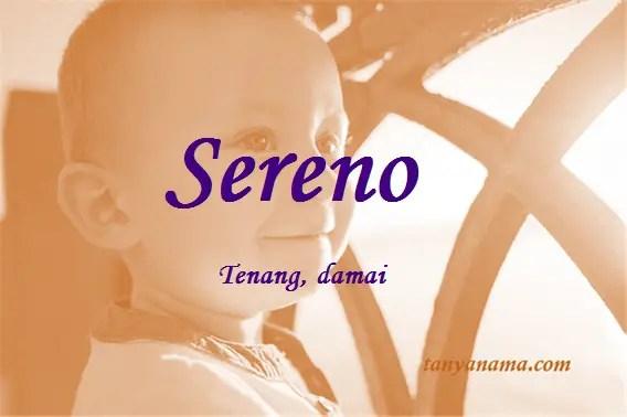 arti nama Sereno