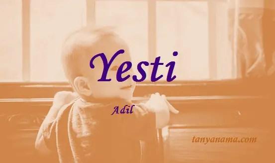 arti nama Yesti