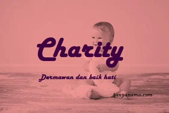 arti nama Charity