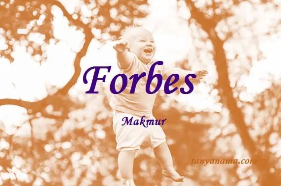arti nama Forbes