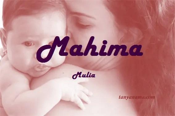 arti nama Mahima