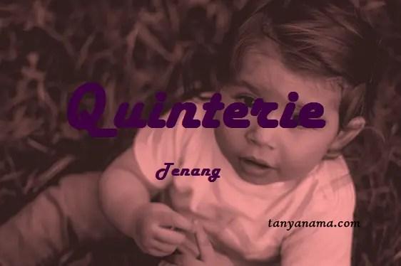 arti nama Quinterie