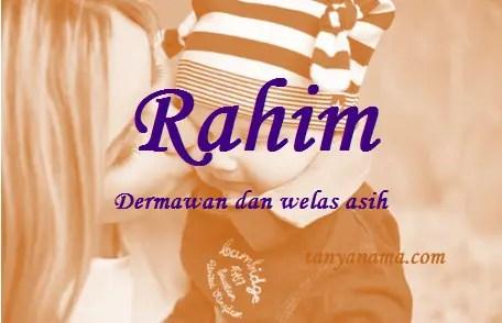 arti nama Rahim