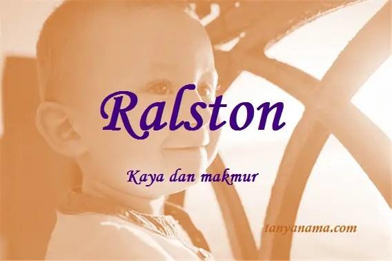 arti nama Ralston