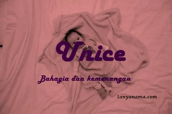 arti nama Unice