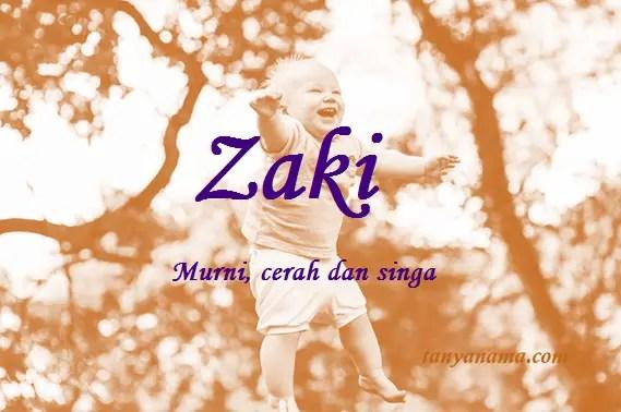 arti nama Zaki