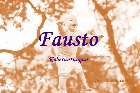 arti nama Fausto