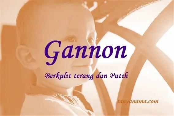 arti nama Gannon