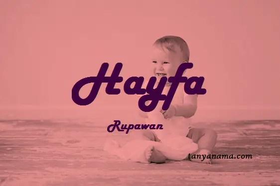 arti nama Hayfa