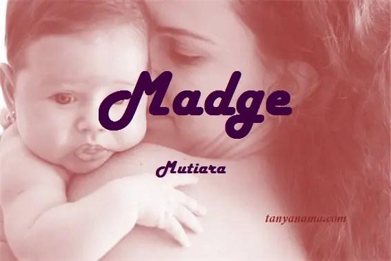 arti nama Madge