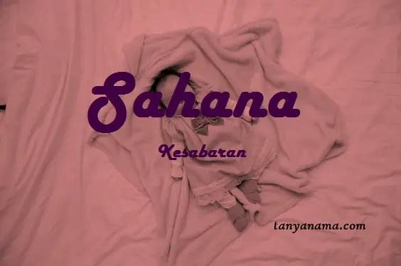 arti nama Sahana