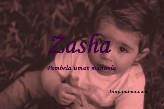 arti nama Zasha