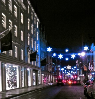Lights on New Bond Street