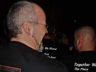 Waiting for the gig to start, standing shoulder to shoulder with the Quo Army