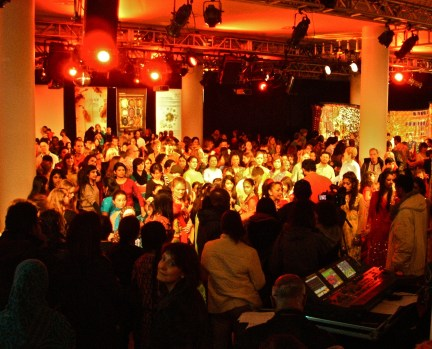 The audience turned to face the cameras to film the final indoor sequence.