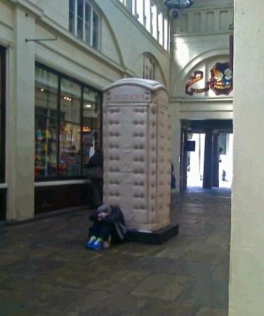 Padded Cell phonebox by Bert Gilbert.