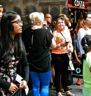Directioners in Leicester Square