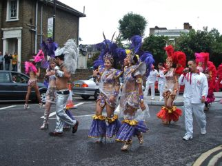 Hackney Carnival 2013 Notice the inventive wet weather costumes