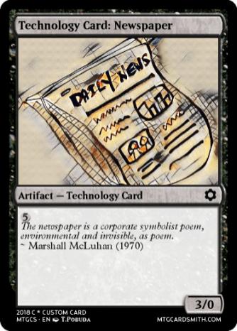 Technology Card_ Newspaper