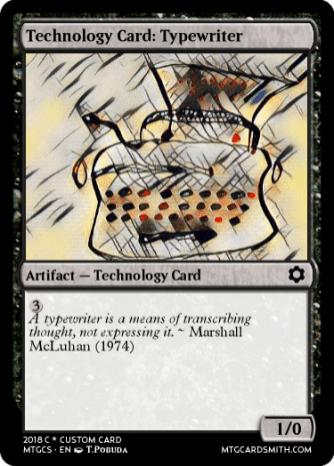 Technology Card_ Typewriter