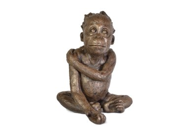 'Please' Baby Orangutan sculpture - front
