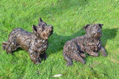 Yorkshire Terrier, Ben & Charlie- Tanya Russell Sculpture