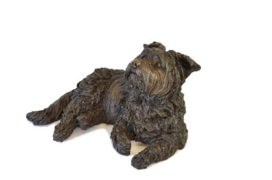 Yorkshire Terrier Lying Sculpture 1 - Tanya Russell Dog Sculpture