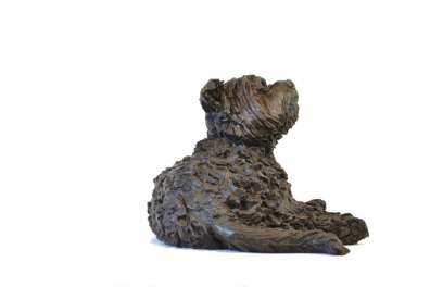 Yorkshire Terrier Lying Sculpture 3 - Tanya Russell Dog Sculpture