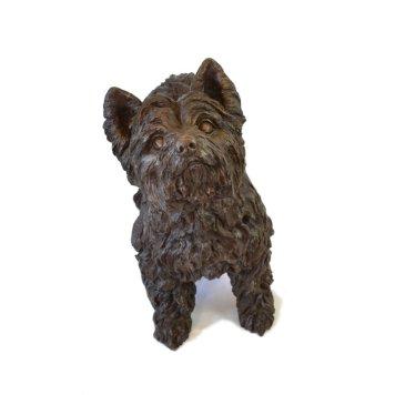 Yorkshire Terrier Standing Sculpture - Tanya Russell Dog Sculpture