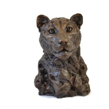 Leopard Portrait 4 - Tanya Russell Animal Sculpture