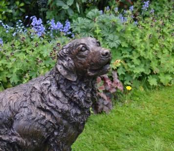 Goldne Retriever 2 Sculpture - Tanya Russell