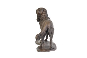 Cavalier King Charles Spaniel, Standing sculpture - rear view
