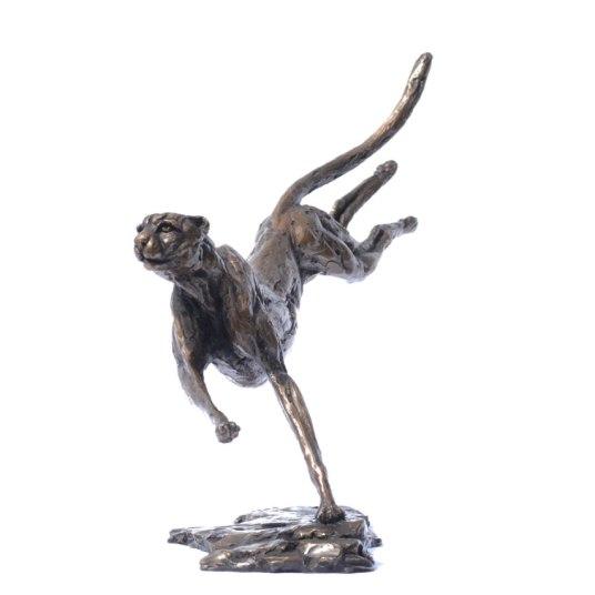Cheetah Running 4 - Tanya Russell Sculpture