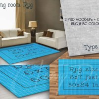 Rug area 5x7 ft Living Room Rug 60x84in by TanyDiDesignStudio