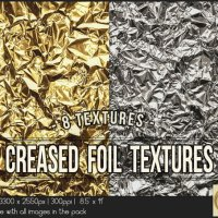 Creased Golden Silver Foil 8.5x11 Printable by TanyDiDesignStudio