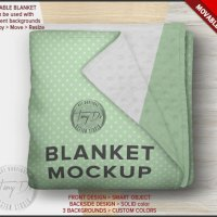 Folded Blanket PSD Styled Mockup Cuddle Dimple by TanyDiArtDesign