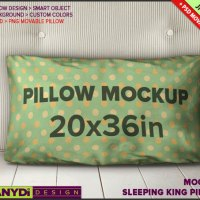 King Pillow-Case Photoshop Styled Mockup by TanyDiArtDesign